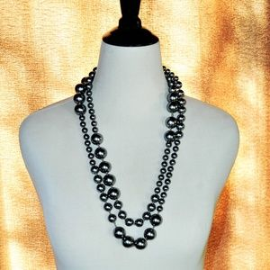Chico's Black Pearl Layering Necklace